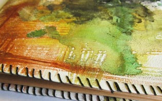 Canvas Painted Notebook