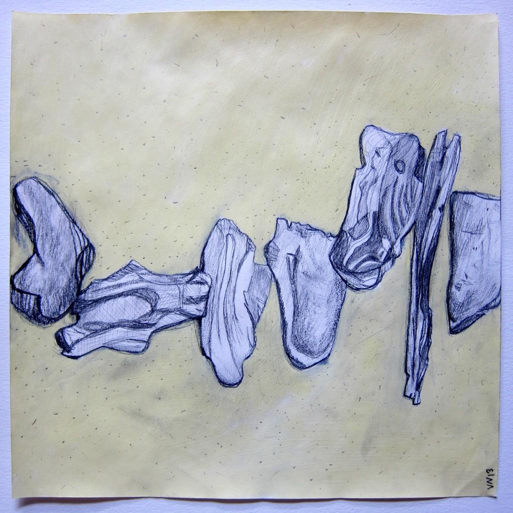 Rock Twig Drawing