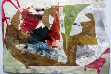 Collage of various painted papers