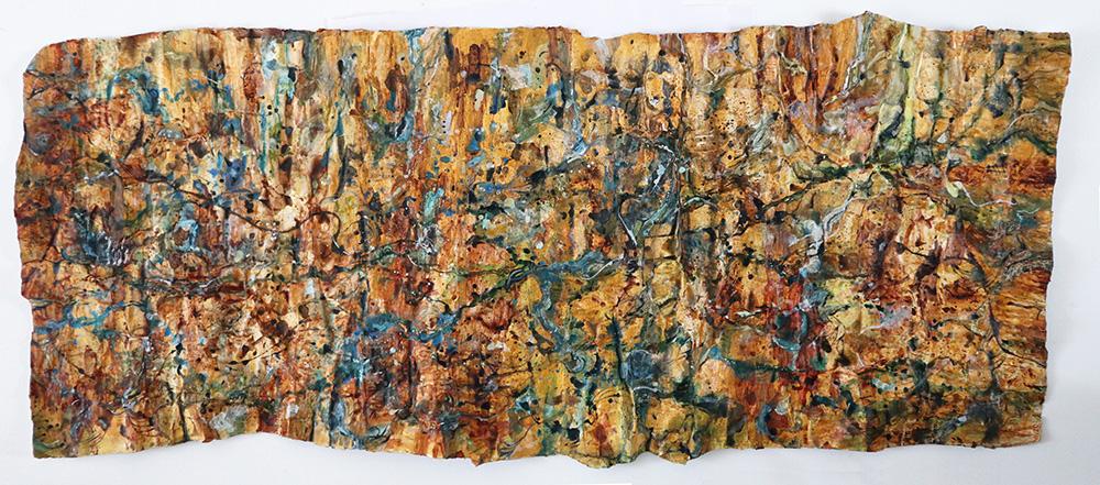 River Terrain Papier Mache Painting