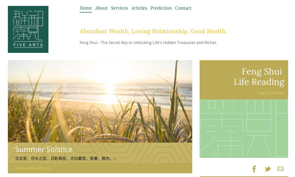 Five Arts Homepage