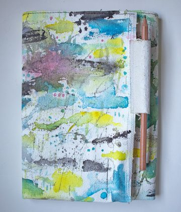 Painted Canvas Sewn Notebook
