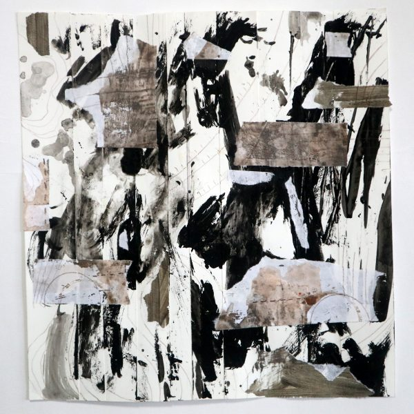 Black White Strips Collage