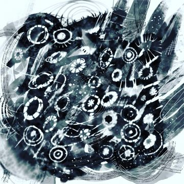 black n white digi sketch